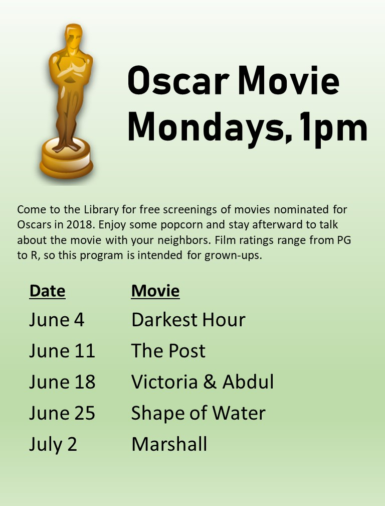 Oscar Movie Mondays