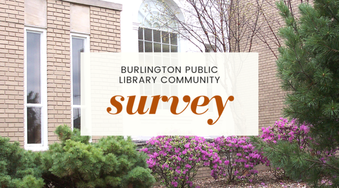 burlington public library community survey