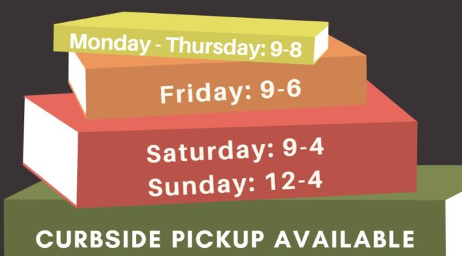 Library Curbside Hours – Building Closed to the Public