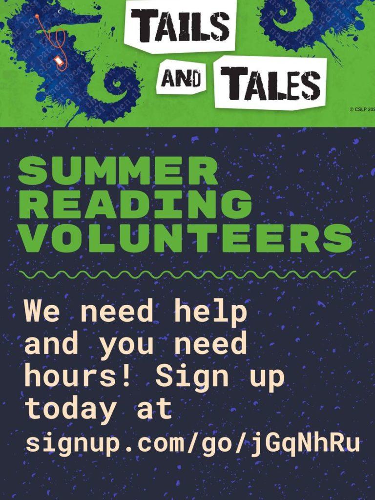 Summer Reading Volunteers Needed